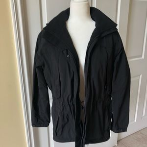 EDDIE BAUER Hooded Jacket, Black, Size XS